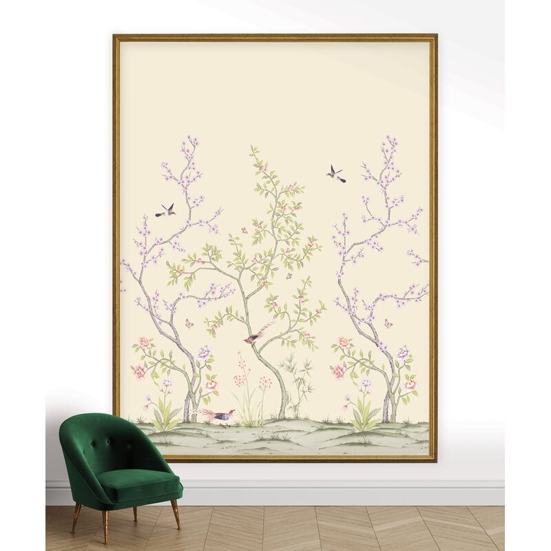 Christmas Tree Store Erie Pa: Brayden Studio Annotto Chinoiserie Garden Removable 10' L