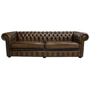 Barwen Genuine Leather 4 Seater Chesterfield Sofa By Rosalind Wheeler