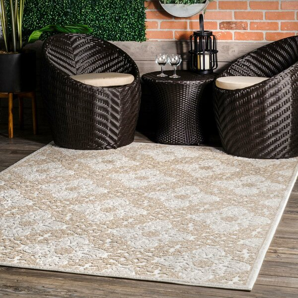 Red Barrel Studio Raeburn Power Loom Brown Beige Indoor Outdoor Use Rug Wayfair