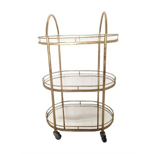 Losey Graceful Metal Bar Cart
