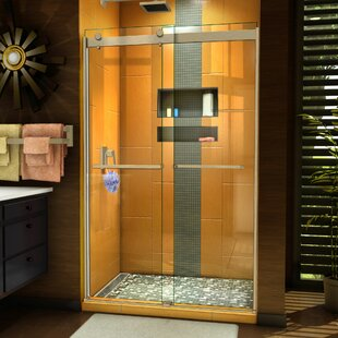 Sapphire 48 inch  x 76 inch  Bypass Semi-Frameless Shower Door