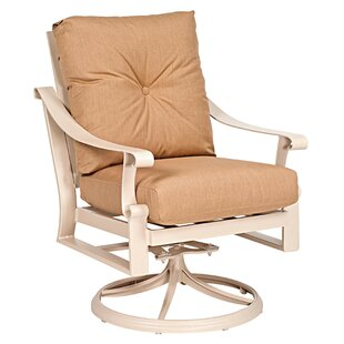 Bungalow Swivel Rocking Lounge Chair with Cushion by Woodard
