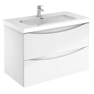 Brillion Love 2 Drawer 36 WallMounted Single Bathroom Vanity Set