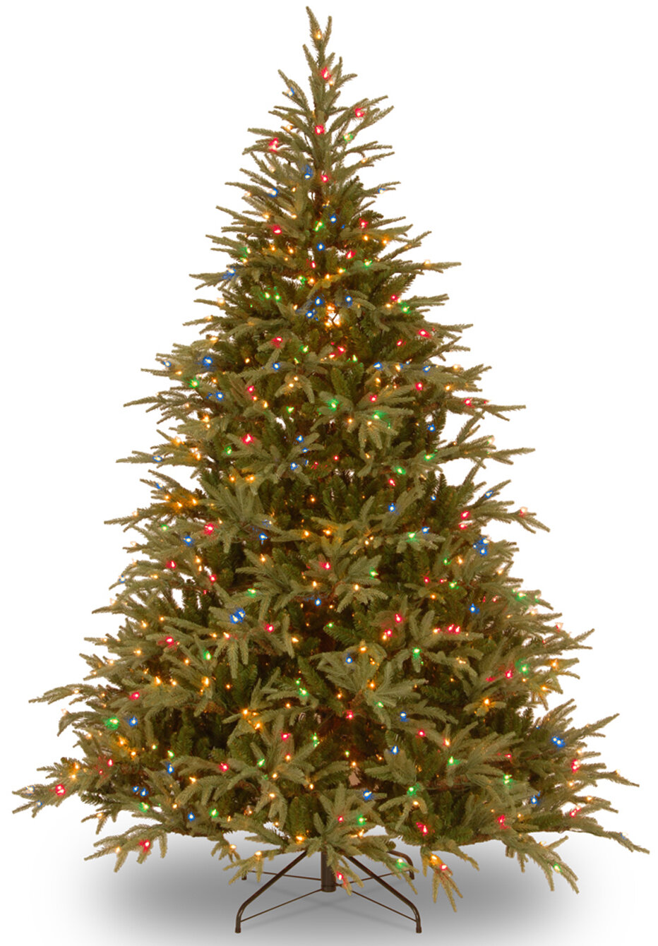 9 Green Fir Artificial Christmas Tree With 1500 Multi Colored Lights