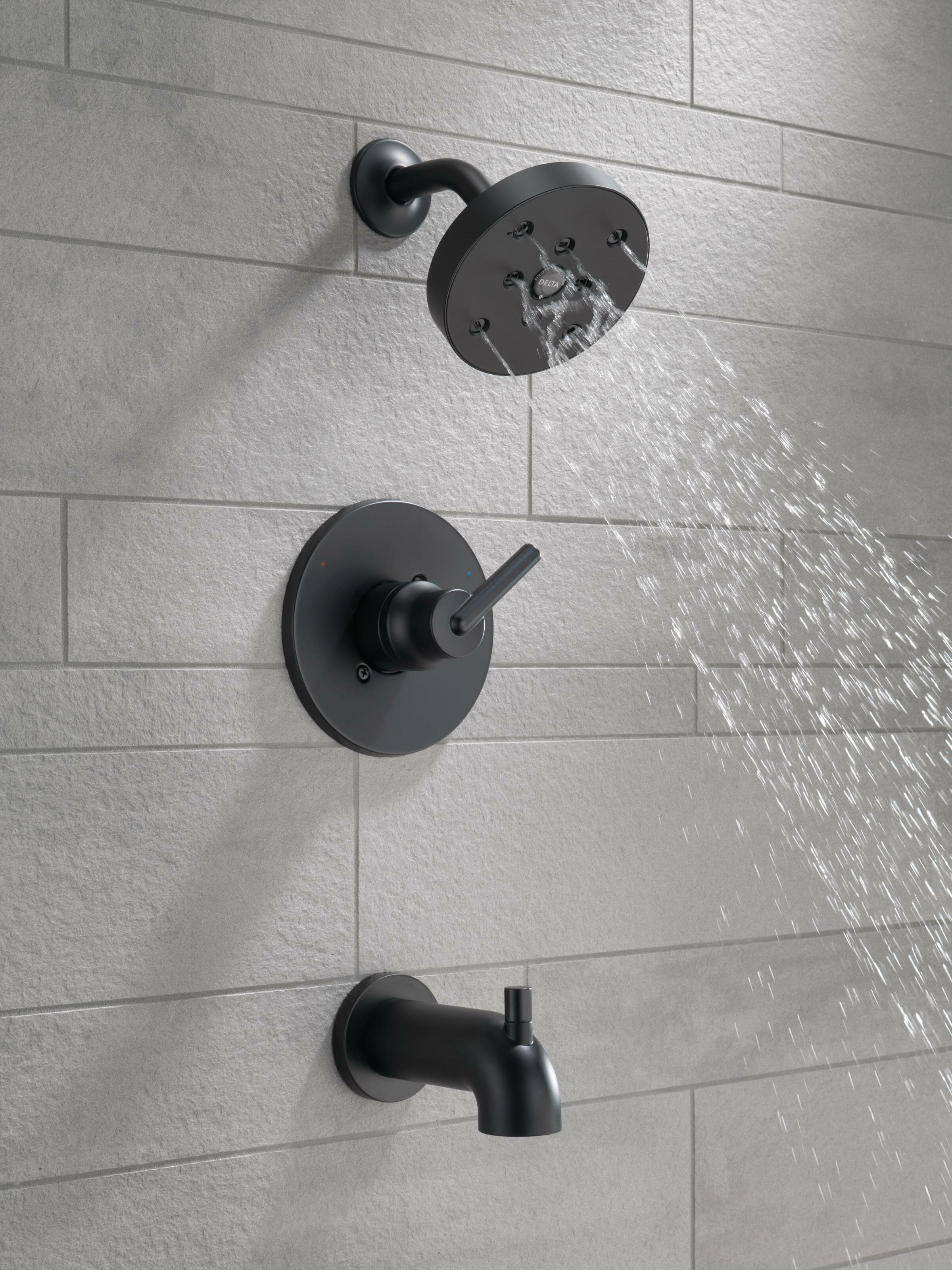 T14459 Ss Cz Delta Trinsic Pressure Balanced Tub And Shower