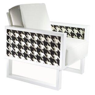 Brayden Studio Floret Houndstooth Armchair