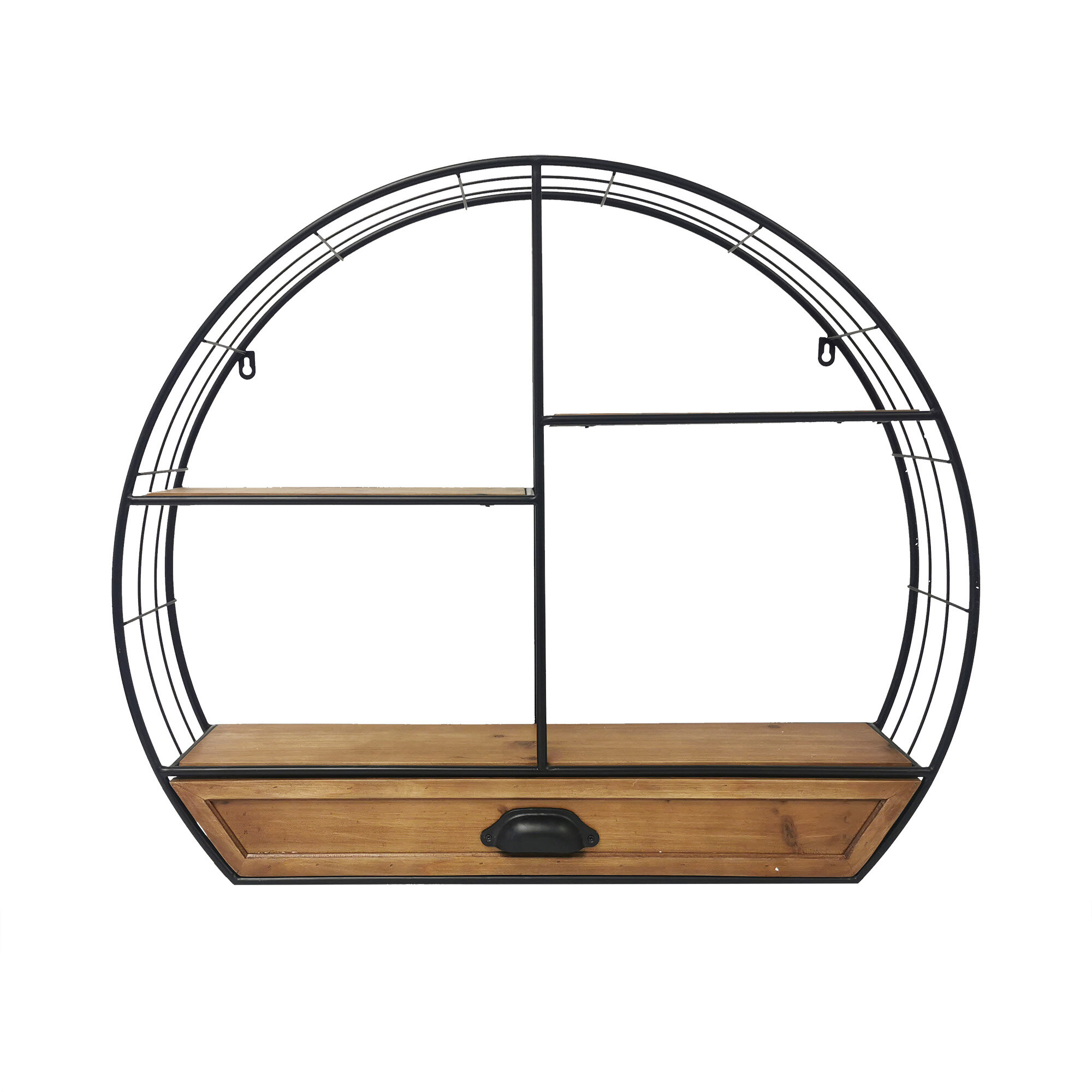 Carina S Collection Spuglio 3 Piece Circle Tiered Shelf With Drawer Wayfair Ca