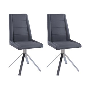 Tenafly Back Pyramid Base Upholstered Dining Chair (Set of 2)