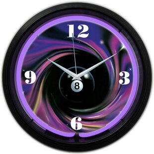 "Pinball Bumper Game Room Theme 12/"" Silent Wall Clock"