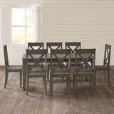 Ridgley 9 Piece Extendable Solid Wood Dining Set by Gracie Oaks