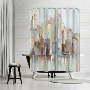 PI Creative Art City Escape I Single Shower Curtain by East Urban Home Bargain