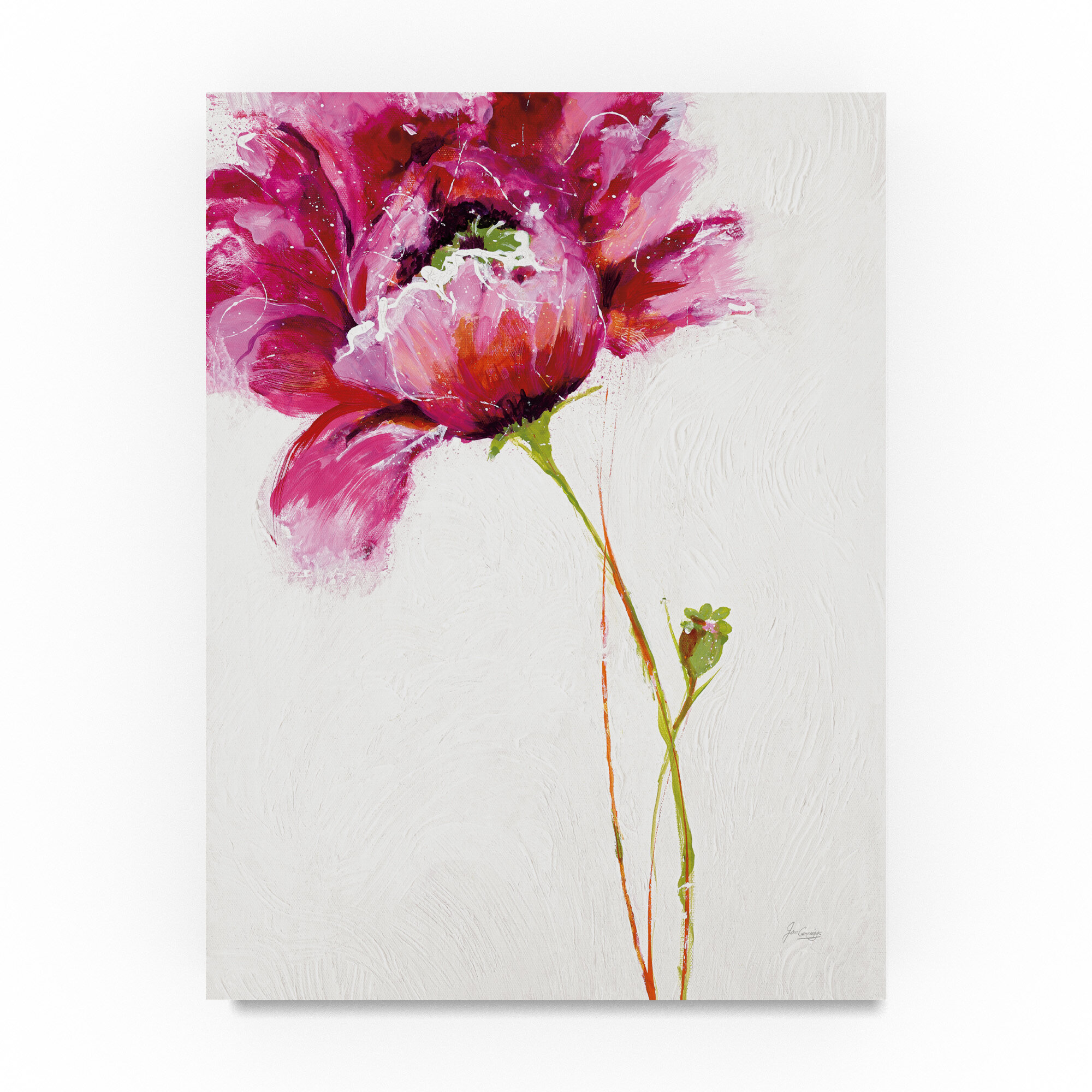"Flower print of an original watercolor painting Art print 2.5/""x3.5/"" Attraction"