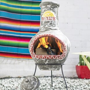 Breana Clay Wood Burning Chiminea By Sol 72 Outdoor