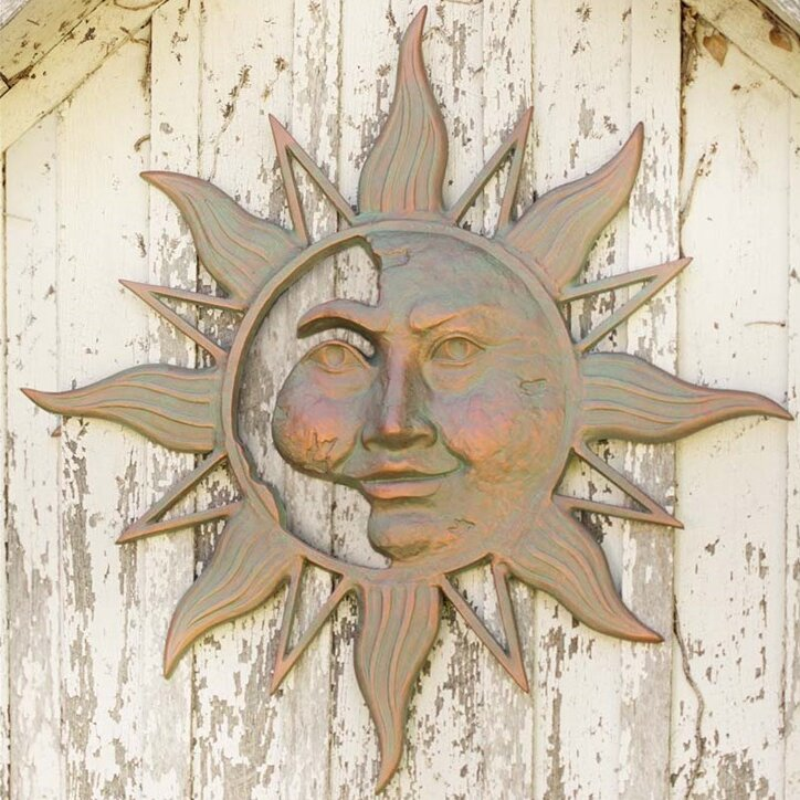 Wind & Weather Mysterious Sun Face Metal Wall Décor & Reviews ...