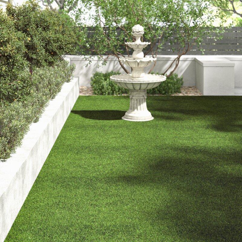 Remarquable Ebern Designs Tapis intérieur/extérieur vert en gazon synthétique YG-14