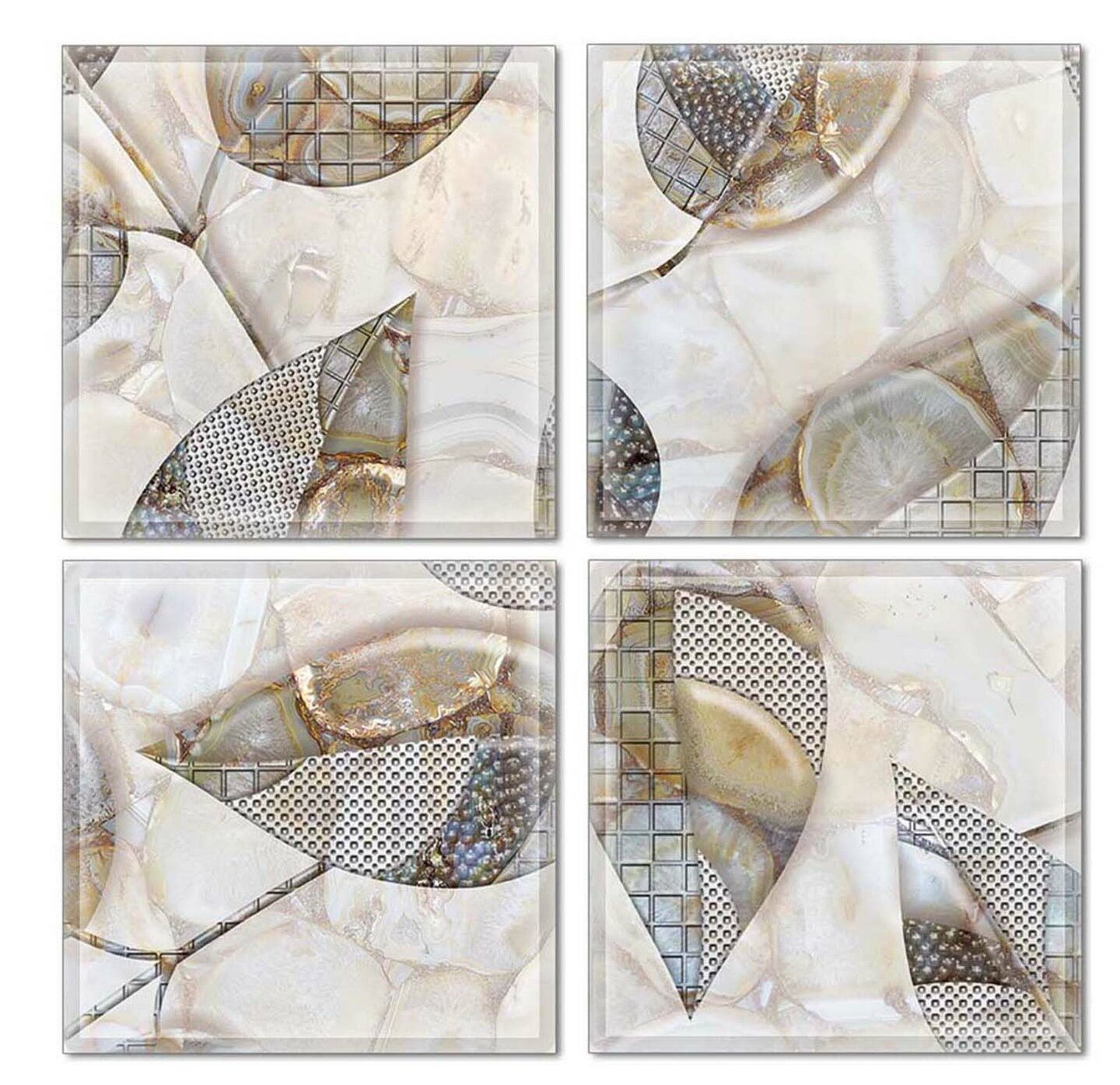 Upscale Designs By Ema 6 X 6 Glass Decorative Accent Tile In Gray Brown Wayfair
