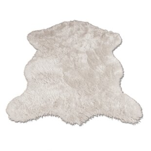 Ahamed Polar Bear Pelt White Area Rug