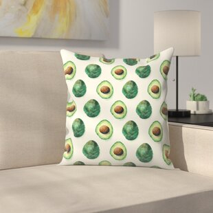 Avocado Pattern Throw Pillow