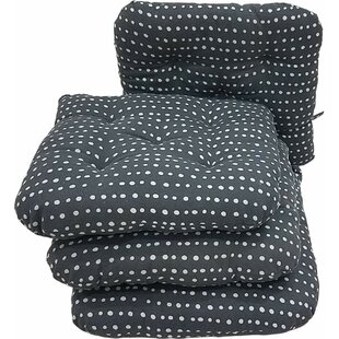 Melange 100% Cotton Round Square 16 x 16 Chair Cushions, Set of 4 (Set of 4)
