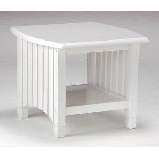 Night & Day Furniture Keywest End Table in White