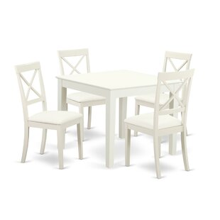 Cobleskill 5 Piece Solid Wood Dining Set
