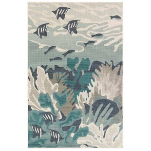 Ricki Ocean Teal Indoor/Outdoor Area Rug