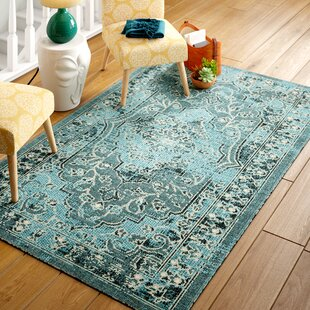 Port Laguerre Turquoise Area Rug