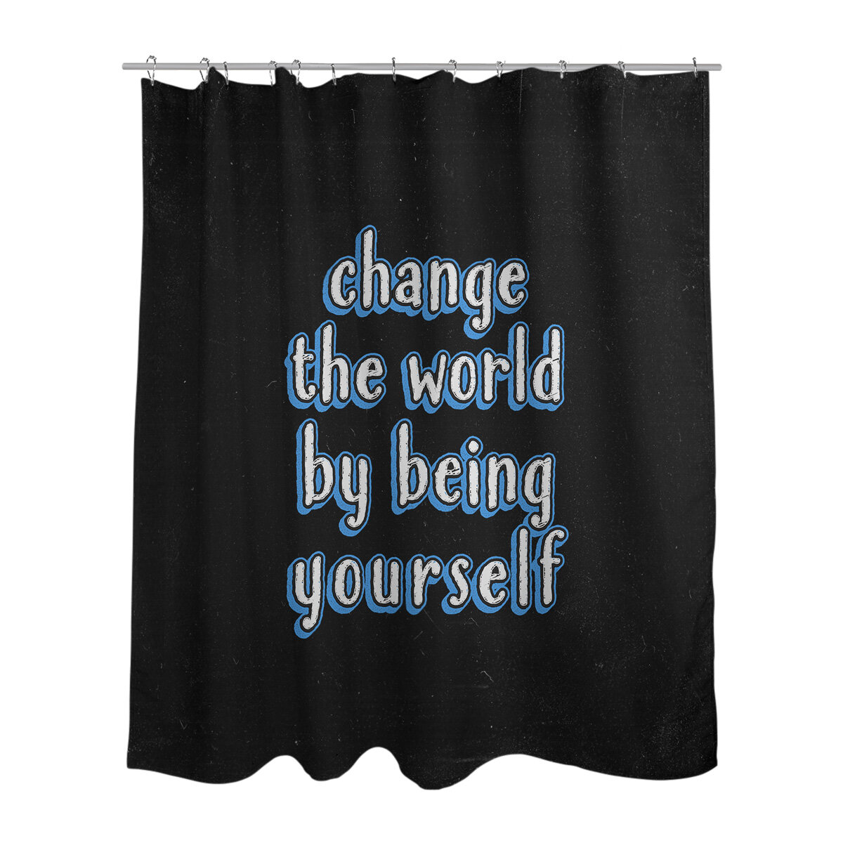 East Urban Home Change The World Quote Chalkboard Style Single Shower Curtain Wayfair