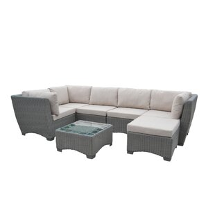 Rosecliff Heights Couto Outdoor Garden 7 Piece Sectional Seating Group with Cushions