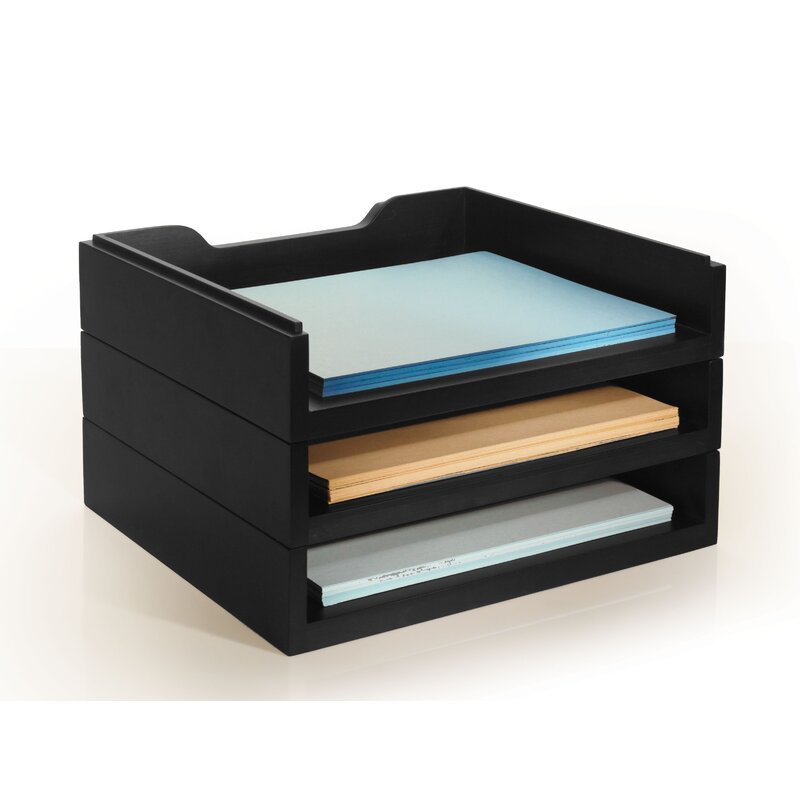 Beaumys Stacking Wood Desk Organizers
