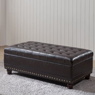 NOYA USA Castilian Faux leather Storage Bench
