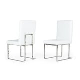 Chartierville Upholstered Solid Back Side Dining Chair (Set of 2) by Orren Ellis