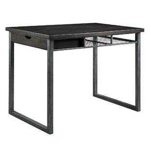 Tyson Rustic Counter Height Solid Wood Dining Table by 17 Stories