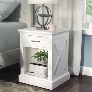 Laurel Foundry Modern Farmhouse Ryles 1 Drawer Nightstand