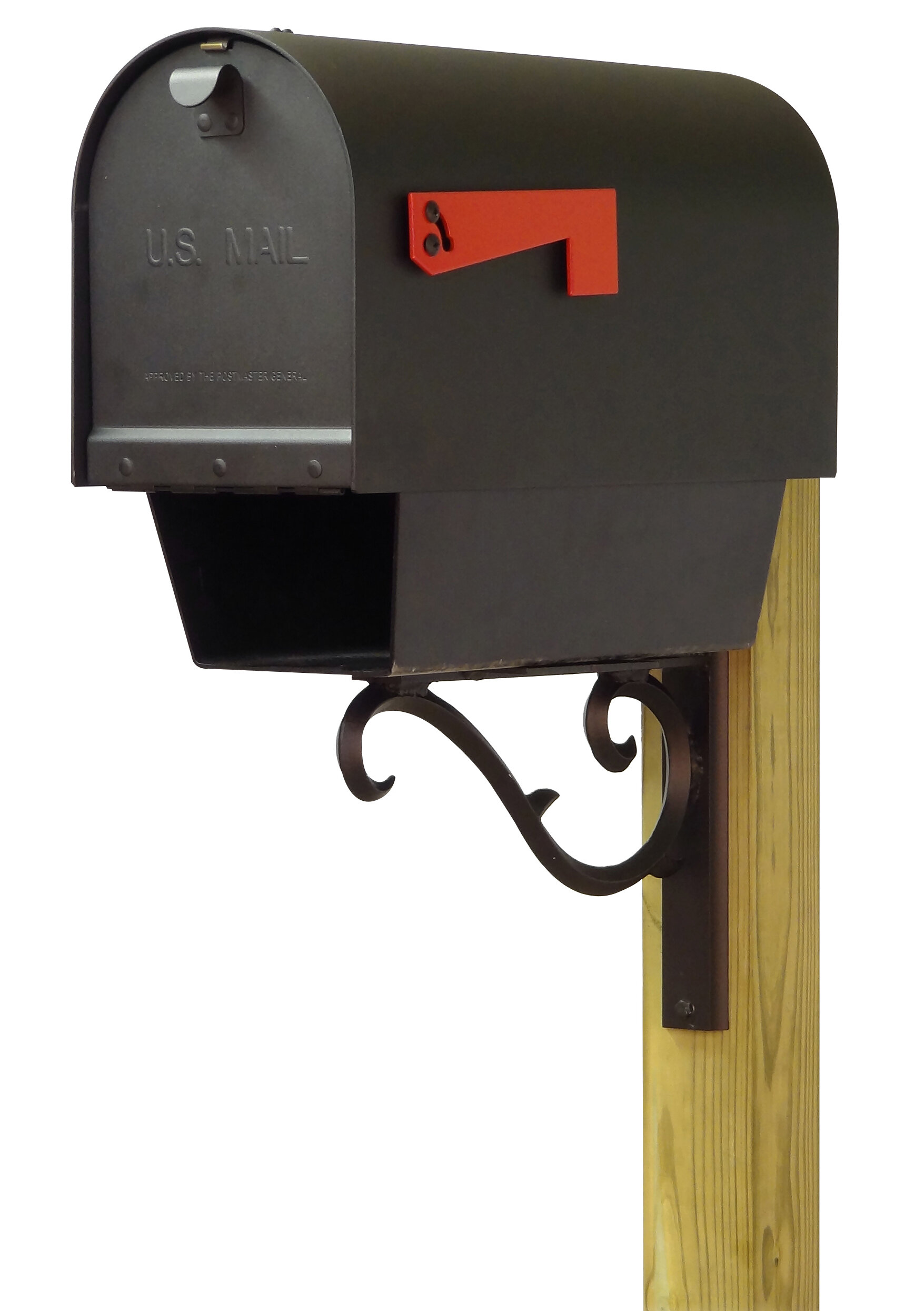 Special Lite Products Titan Steel Curbside Post Mounted Mailbox Wayfair