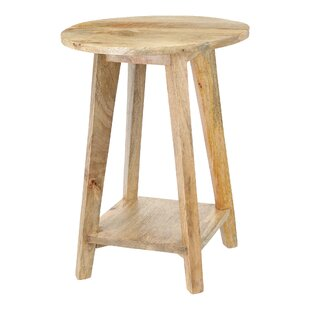 Sturdy Round Top Decorative Stool By Alpen Home