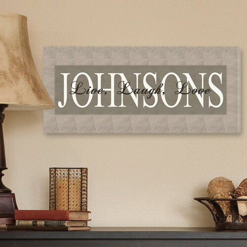 Jds Personalized Gifts Personalized Gift Live Laugh Love Textual Art On Canvas In Bold Grey Reviews Wayfair