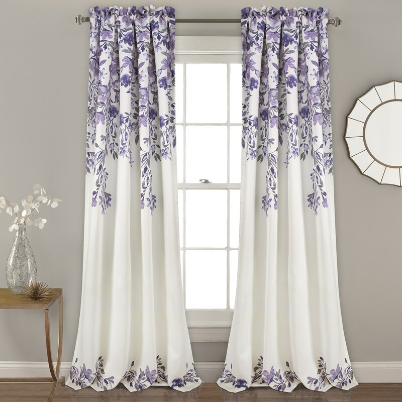 Saffr Walden Room Darkening Thermal Rod Pocket Curtain Panel Pair