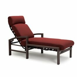 Lakeside Reclining Chaise Lounge with Cushion