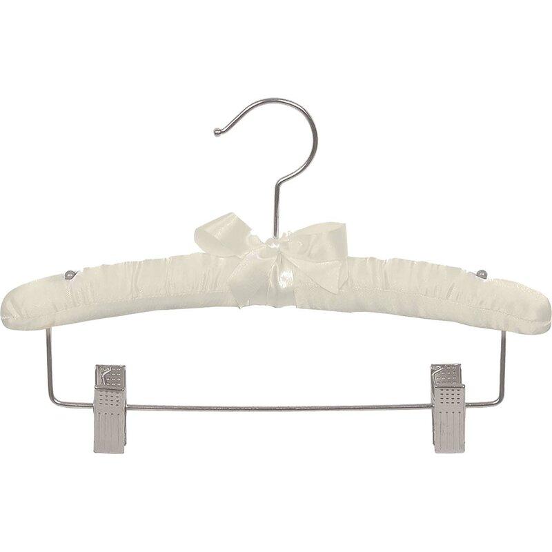 Rebrilliant Satin Padded Kids Hanger With Clips Wayfair