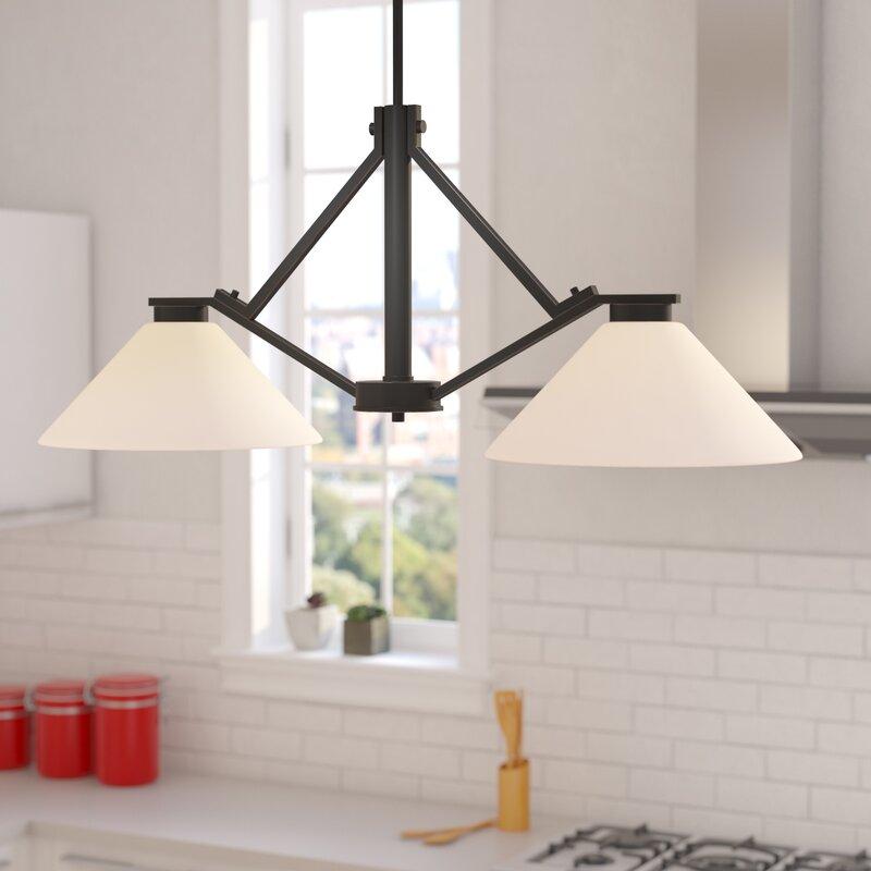 Ebern Designs Naccarato 2 Light Kitchen Island Pendant Reviews Wayfair