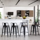 Saleh Solid Wood Bar & Counter Stool (Set of 4)