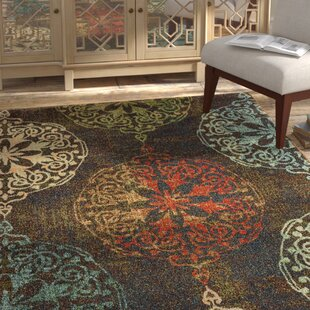 Hedberg Medallions Brown/Green Indoor/Outdoor Area Rug