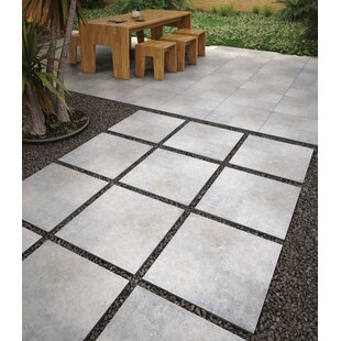 Beton Gray Porcelain Paver In By Msi