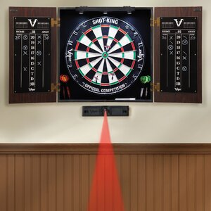 Stadium Dartboard and Cabinet Set