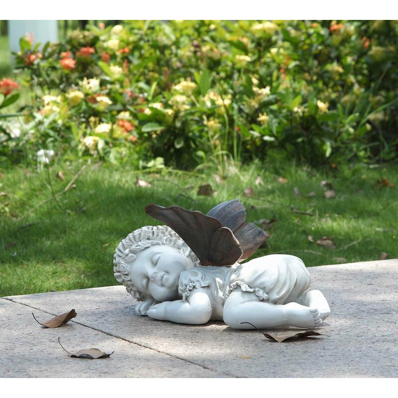 Baby Fairy Crawling Statue Home Yard Or Garden Decor Free Shipping Figures Collectibles Pumpenscout De