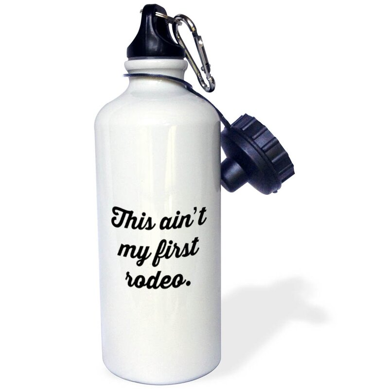 3drose This Aint My First Rodeo 21 Oz Stainless Steel Water Bottle With Straw Wayfair