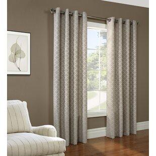 Weldon Geometric Room Darkening Grommet Single Curtain Panel by Charlton Home