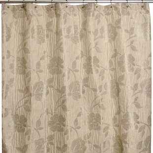 Embroidered Flower Single Shower Curtain