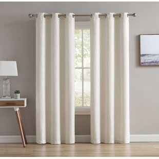 "Tahari 108/"" extra long 2 Window Panels Panel Set Medallion Gray Cream Cotton NEW"